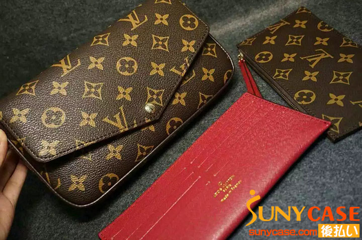 LV iPhone7ケース 財布付け